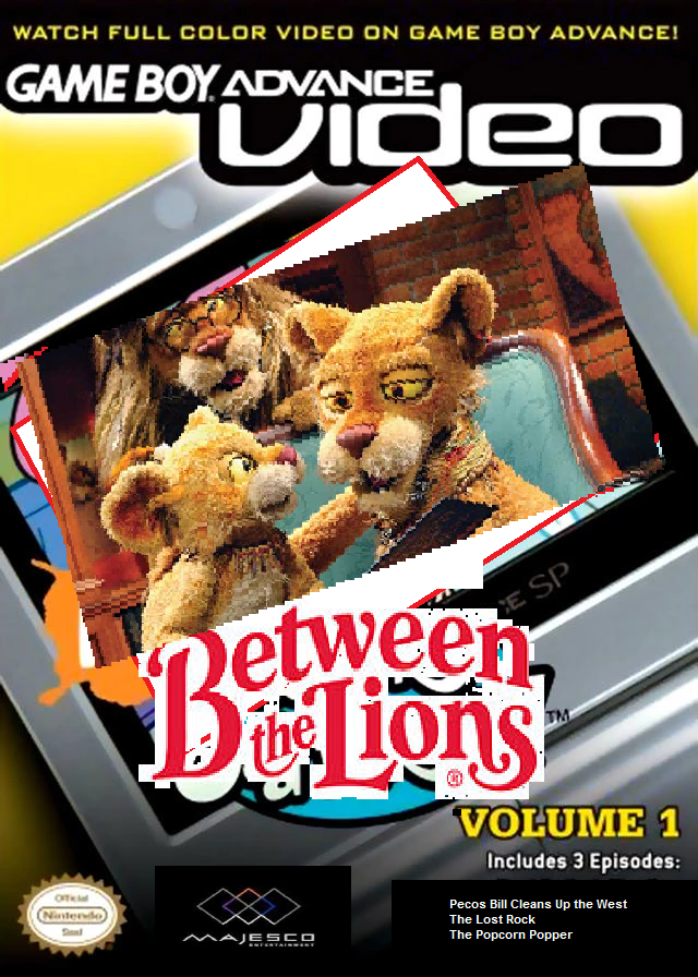 Game Boy Advance Video: Between the Lions box cover