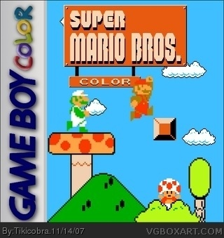 Super Mario Bros Color box cover