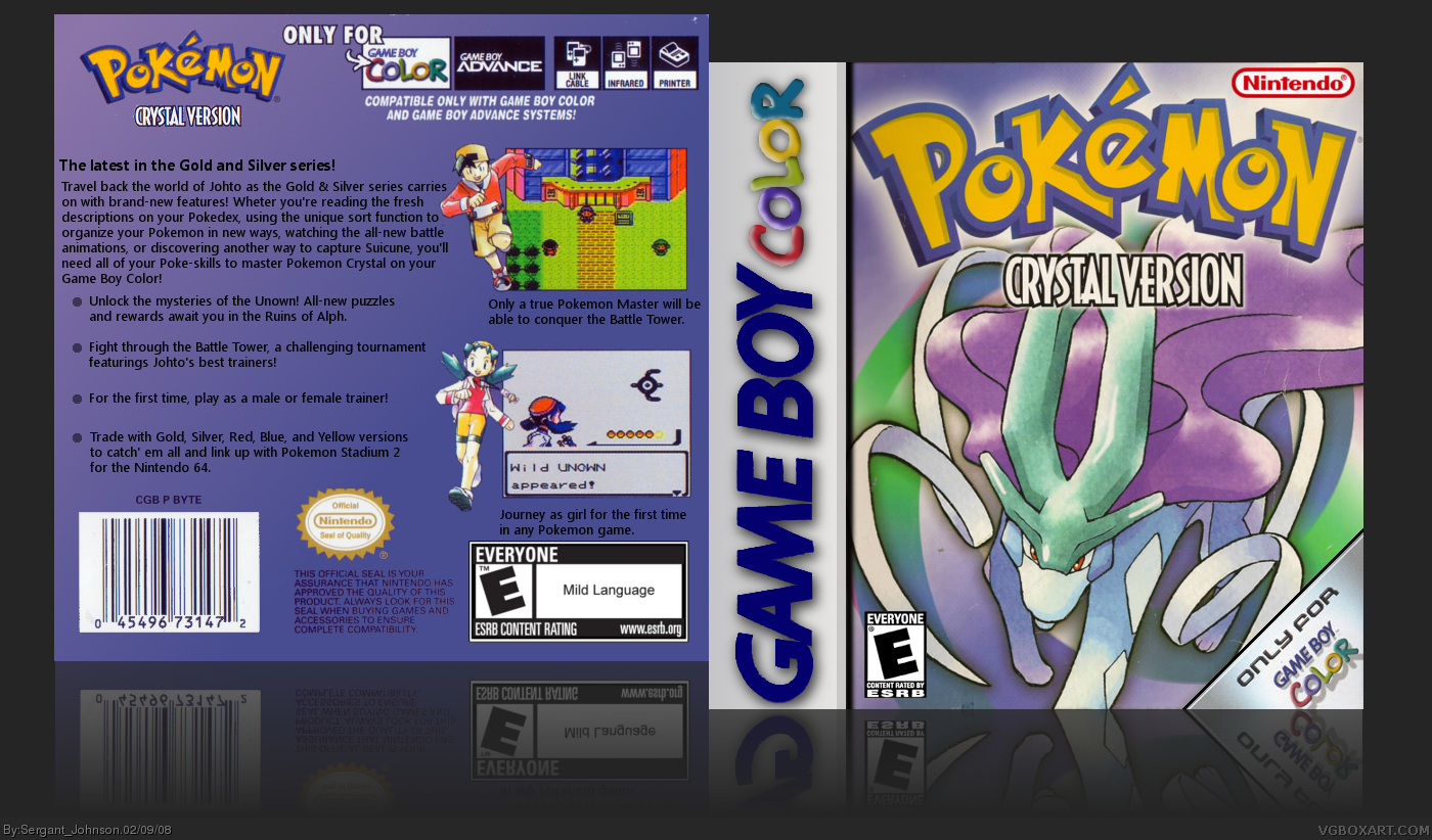 Pokemon Crystal box cover