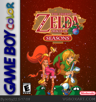 Game Boy Color » The Legend of Zelda: Oracle of Seasons Box Cover