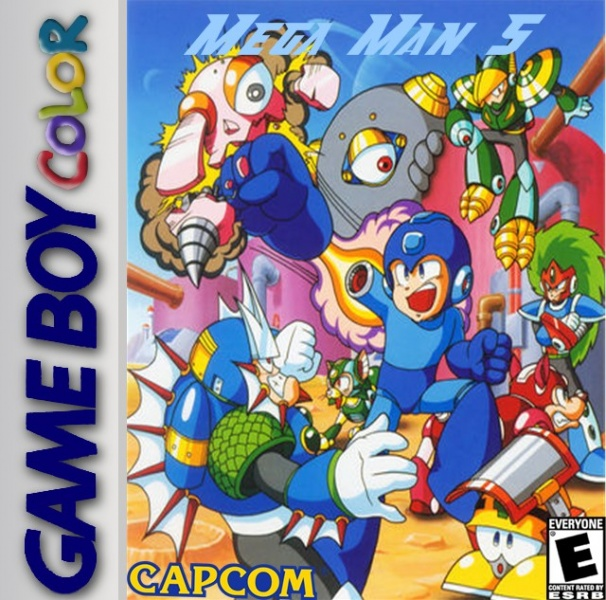 Mega Man 5 box cover
