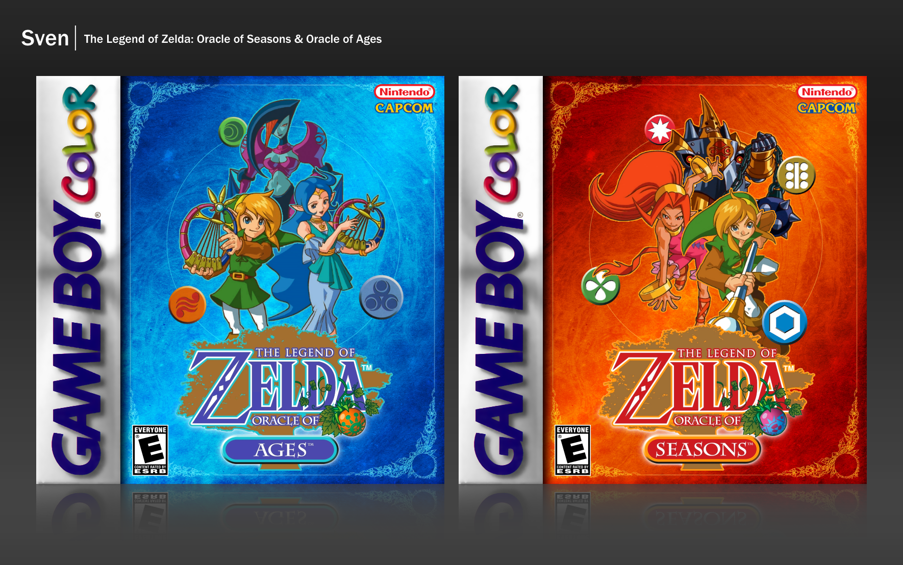 The Legend Of Zelda Oracle Of Seasons Ages Game Boy Color