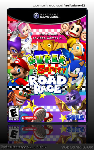 Super Sanity Road Rage Gamecube Box Art Cover By
