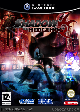 Shadow The Hedgehog Gamecube Box Art Cover By Sonic2k6