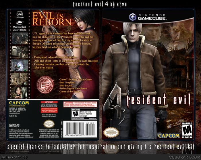 Resident Evil 4 Gamecube Box Art Cover By Ervo