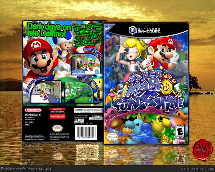 Super Mario Sunshine Gamecube Box Art Cover By Alldreamsfalldown