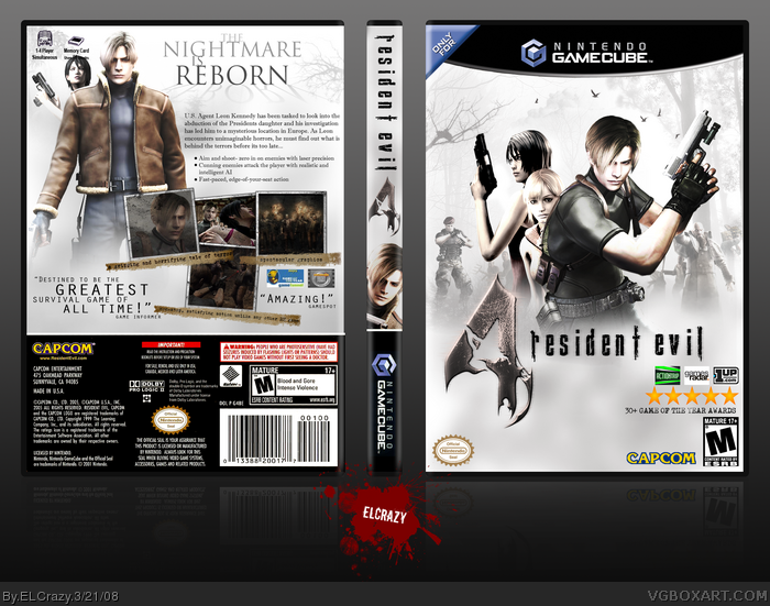 Resident Evil 4 Gamecube Box Art Cover By Elcrazy