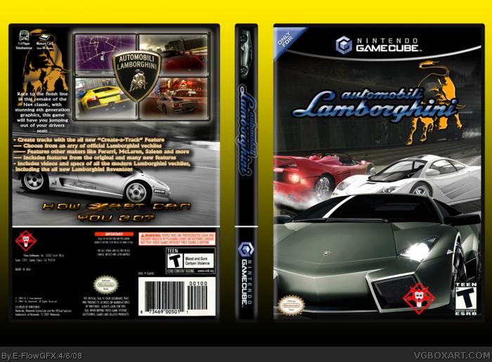 Automobili Lamborghini Gamecube Box Art Cover By E Flowgfx