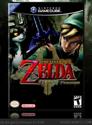 Legend of Zelda Twilight Princess box cover