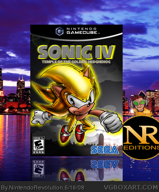 Sonic the Hedgehog IV box art cover