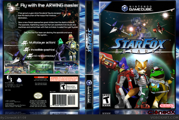 Gamecube Box Art Starfox Assault Box Art Cover