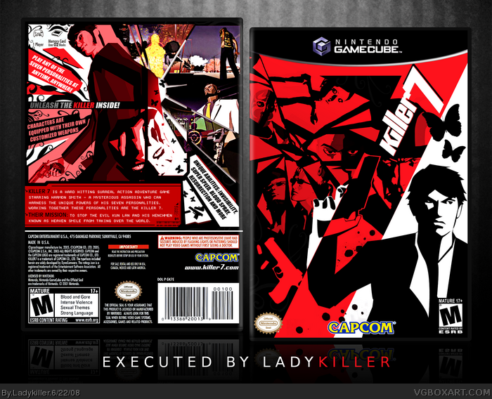 Killer 7 box art cover