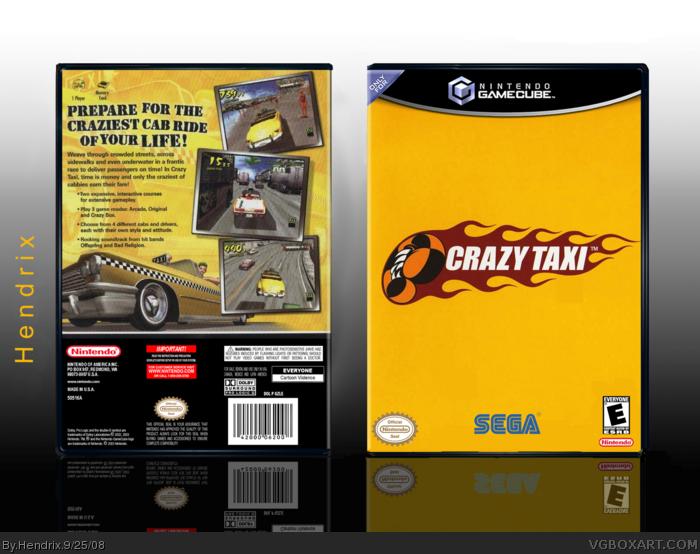 GameCube » Crazy Taxi Box Cover