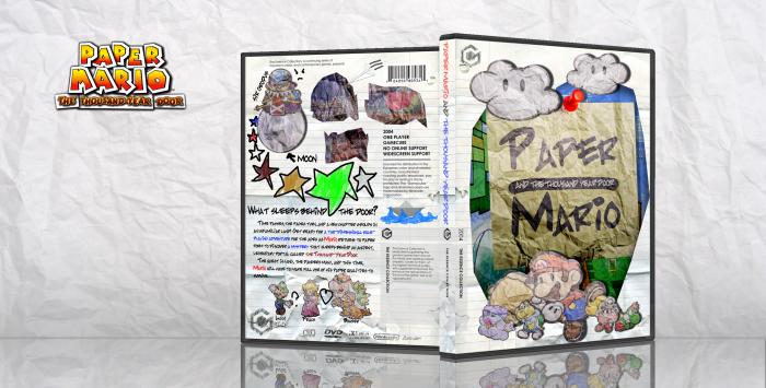 Paper Mario: The Thousand-Year Door GameCube Box Art Cover