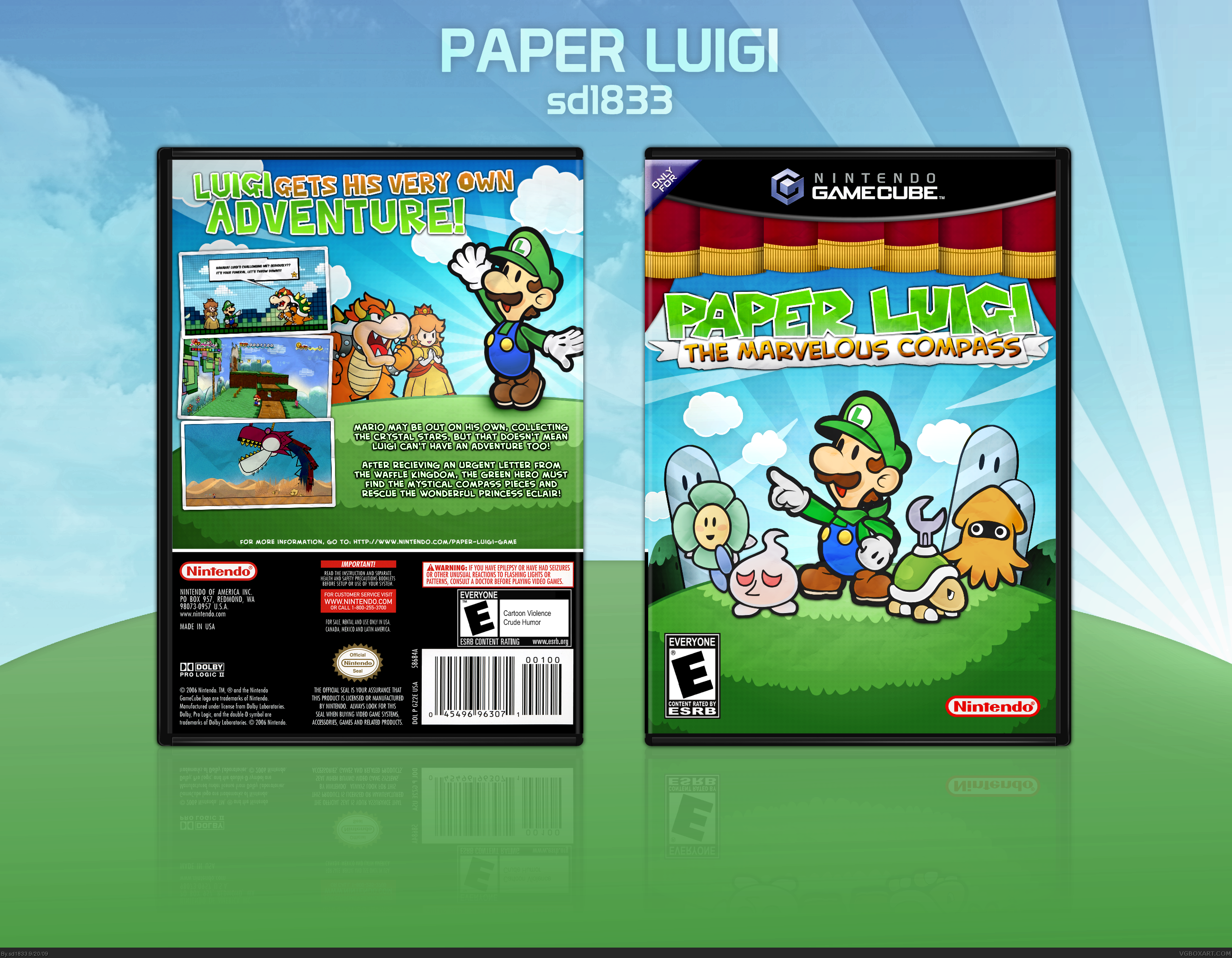 Paper Luigi The Marvelous Compass