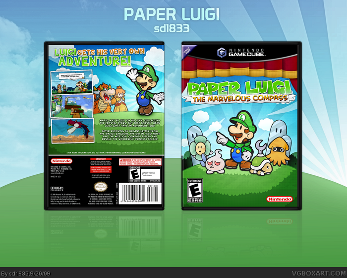 Paper Luigi: The Marvelous Compass box art cover