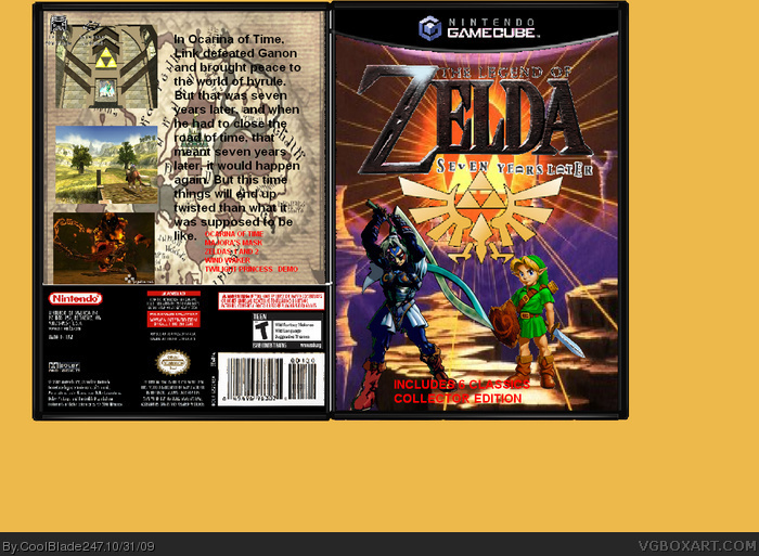 The Legend of Zelda: Seven Years Later box art cover
