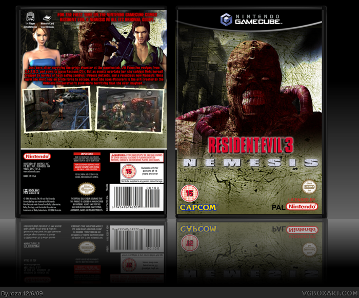 GameCube » Resident Evil 3 Nemesis Box Cover