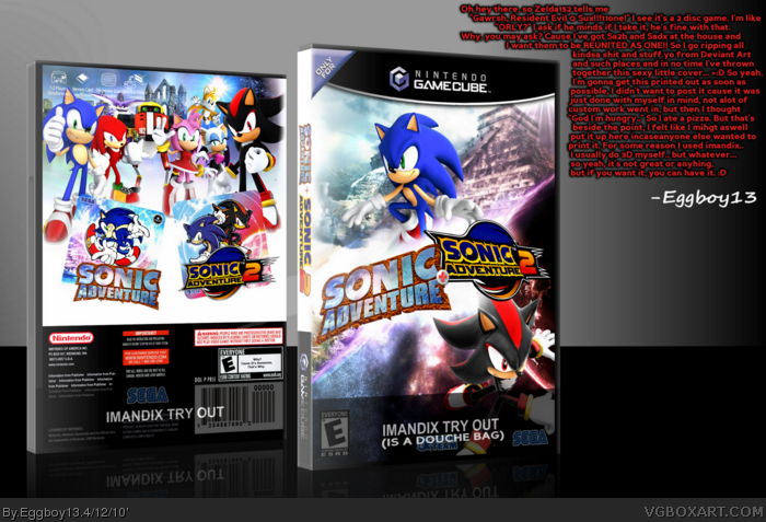 Gamecube Box Art Sonic Adventure 2 Box Art