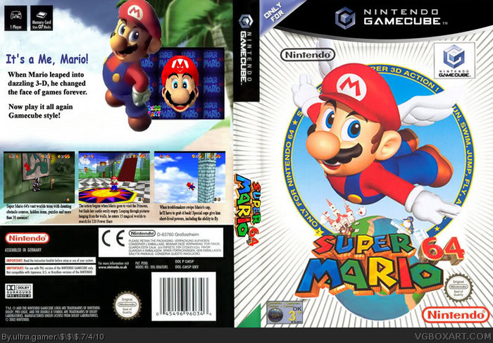 Gamecube Box Art Super Mario 64 Box Art Cover