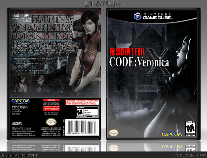 GameCube » Resident Evil: Code Veronica X Box Cover