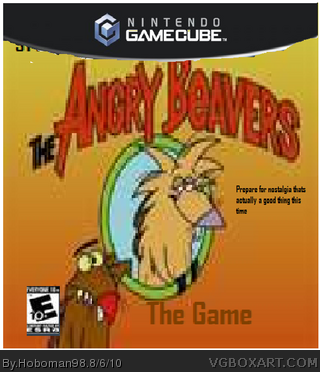 THe ANGRY BeAVERS GAMe box cover
