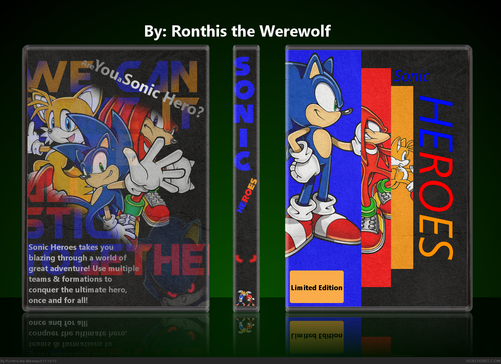 Sonic Heroes box cover