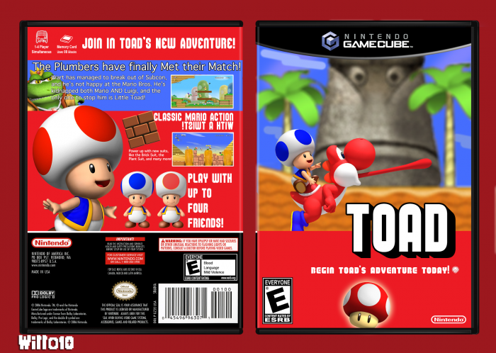 Gamecube Box Art Toad Box Art Cover