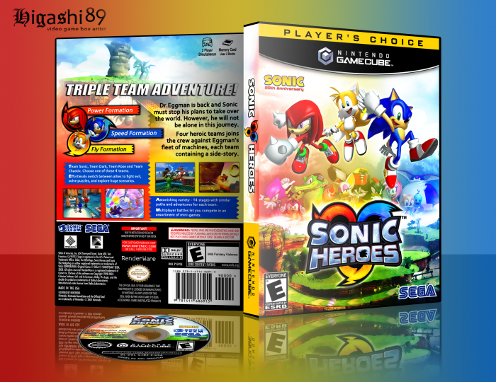 Gamecube Box Art Sonic Heroes Box Art Cover