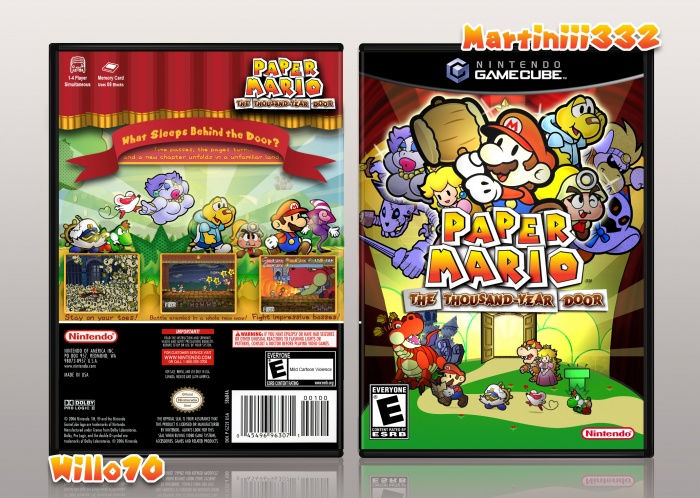 Paper Mario: The Thousand Year Door box art cover