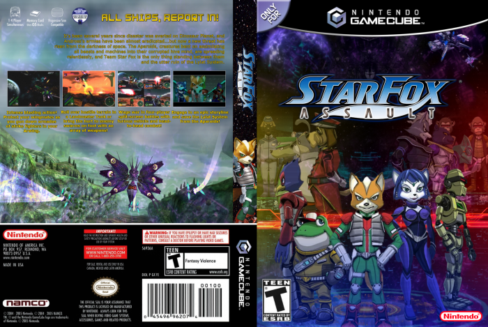 Gamecube Box Art Star Fox Assault Box Art