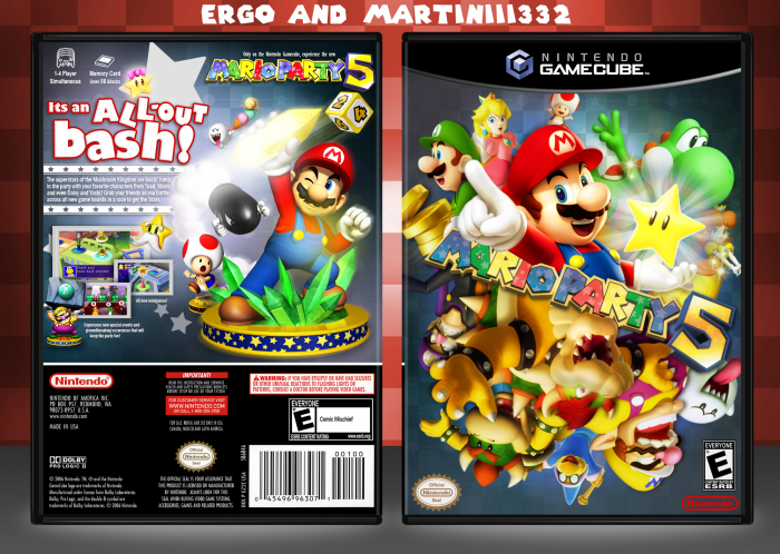 Gamecube Box Art Mario Party 5 Box Art Cover