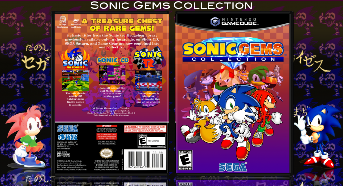 Sonic Gems Collection box art cover