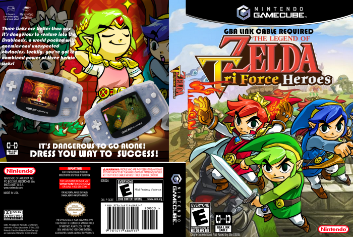 The Legend Of Zelda: Triforce Heroes box art cover