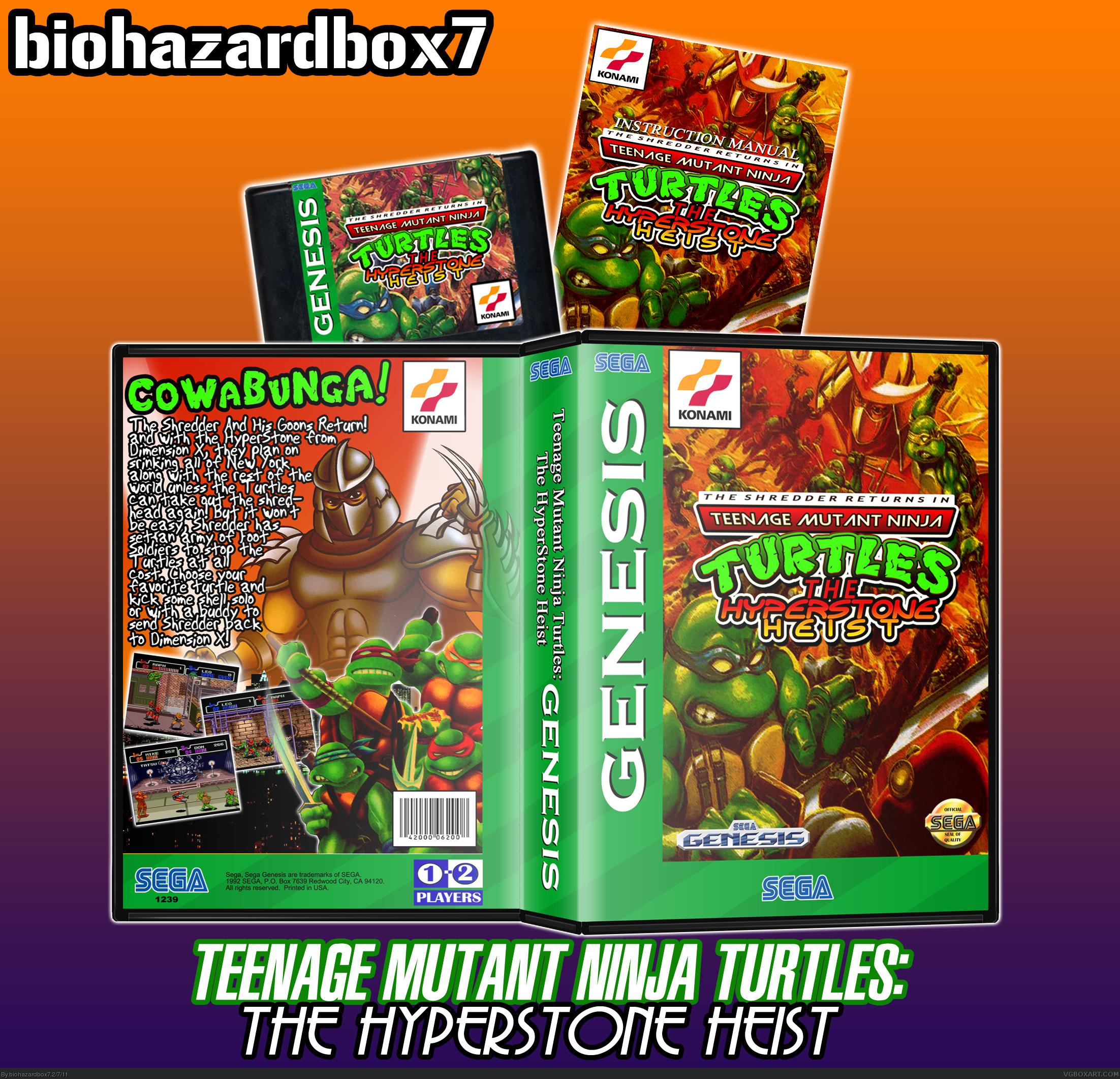Viewing Full Size Teenage Mutant Ninja Turtles The Hyperstone Heist Box Cover