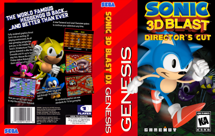 Sonic 3D Blast Director's Cut US V2 box art cover