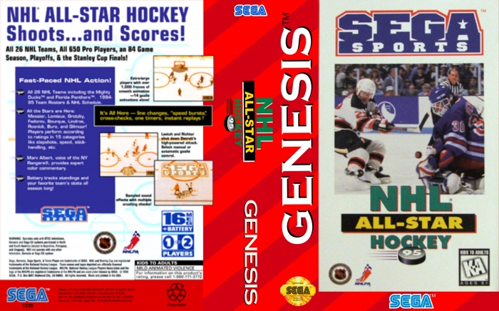 NHL All-Star 95 box art cover