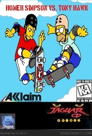 Homer Simpson vs. Tony Hawk box cover