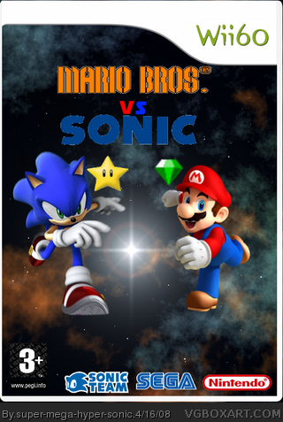 Mario Bros. Vs Sonic box cover
