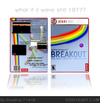 Breakout for the Atari360 box art cover