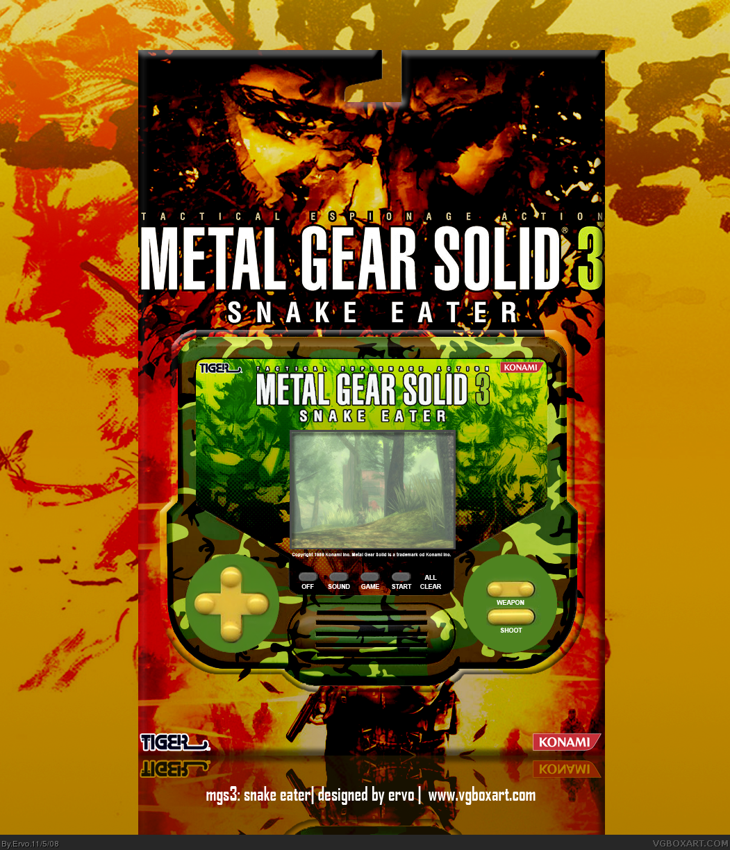 Metal Gear Solid 3 Snake Eater Misc Box Art Cover By Ervo