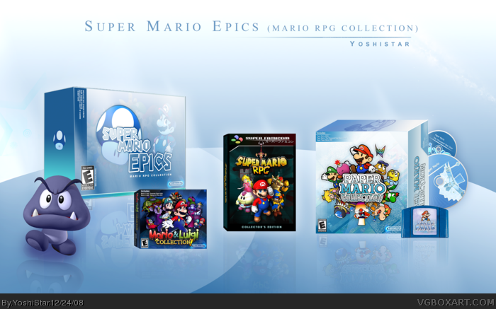 Super Mario Epics box art cover