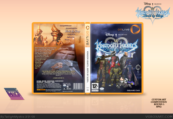 Kingdom Hearts: Birth By Sleep (For OnLive) box art cover