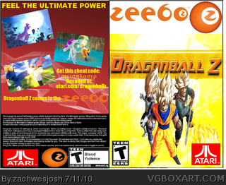 DragonBall Z (Zeebo) box art cover