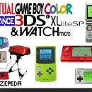 Virtual Gameboy Color Advance 3DSi XL lite SP Box Art Cover