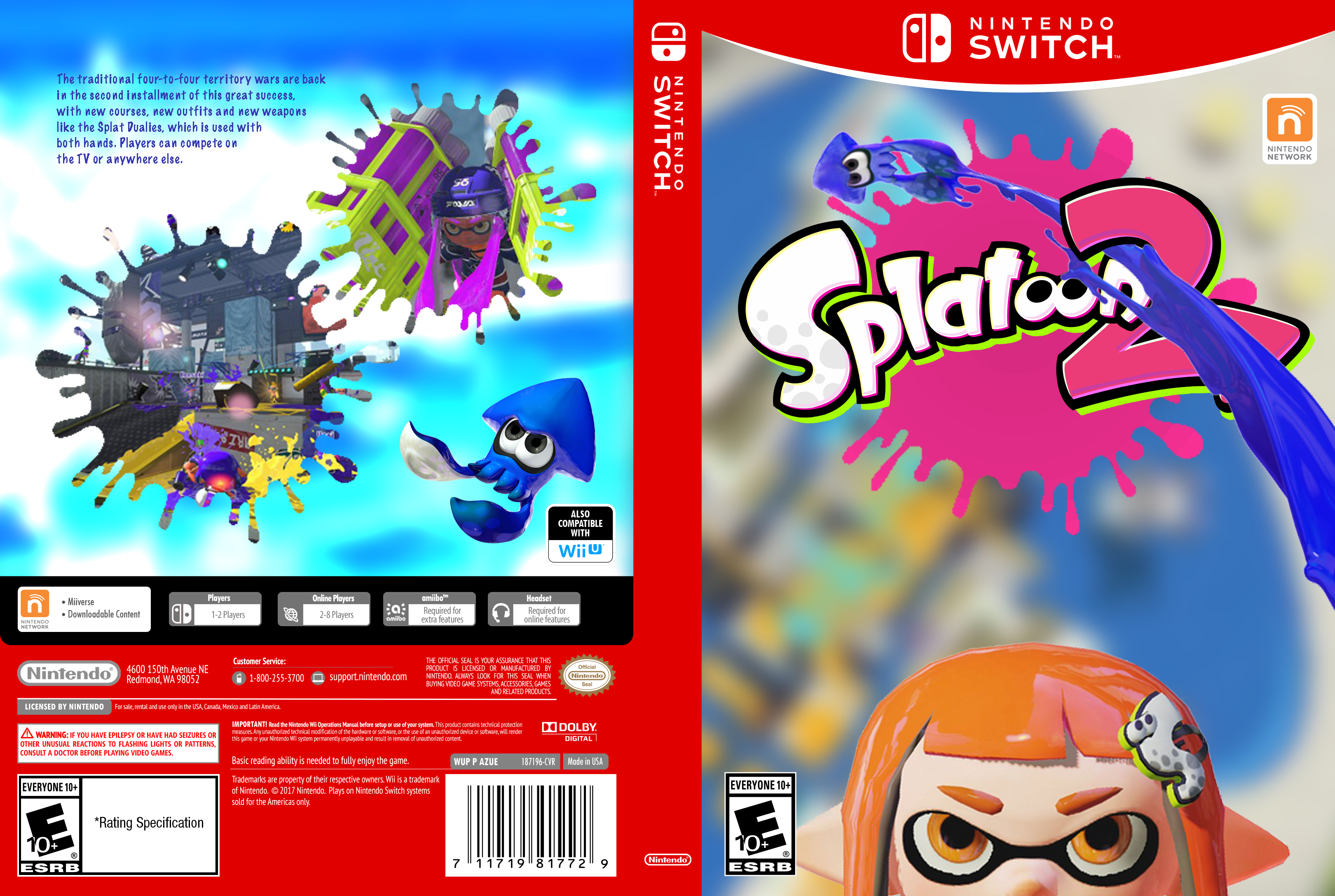 Splatoon 2 box cover