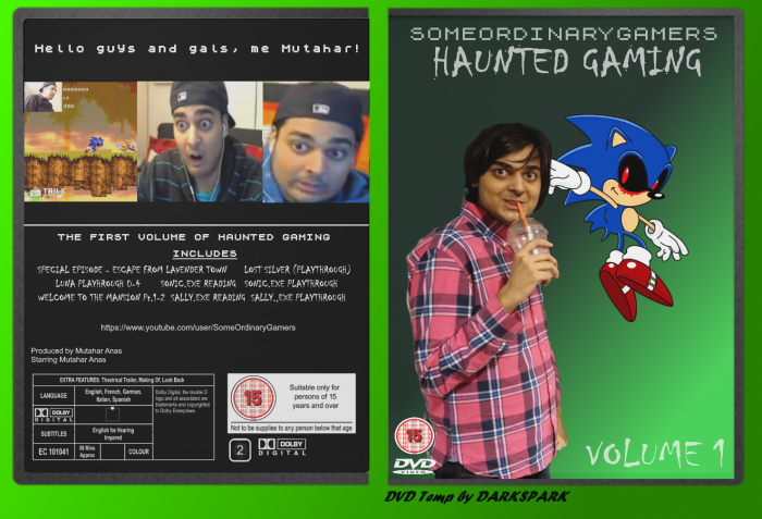 SomeOrdinaryGamers : Haunted Gaming Volume 1 box art cover