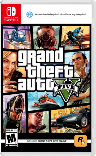 Grand Theft Auto 5 (Nintendo Switch) box cover