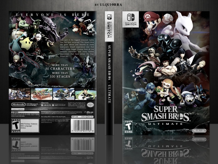 super smash bros ultimate misc box art cover by ulquiorra