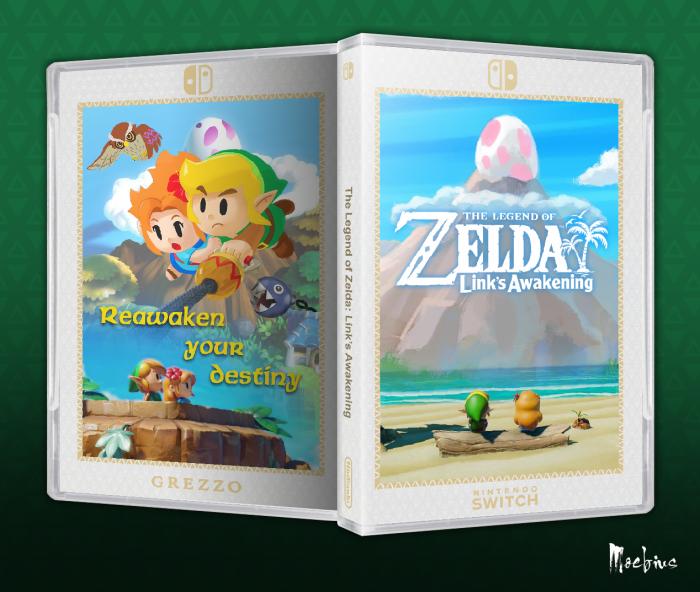 The Legend Of Zelda Link S Awakening Misc Box Art Cover By